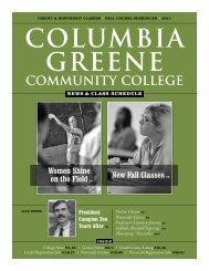 Fall 2011 News & Class Schedule - Columbia-Greene Community ...