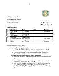 Eesti Rotary Juhtkomitee Rotary ühisprojekti töögrupi 2. koosoleku ...