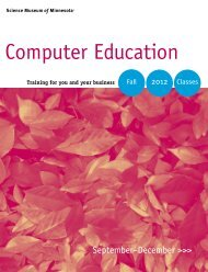 Fall 2012 Catalog - Computer Education at the Science Museum of ...