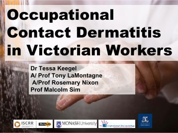 Occupational Contact Dermatitis in Victorian Workers (pdf ... - iscrr