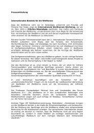 Pressemitteilung Internationales Bündnis für die Weißtanne Dass ...