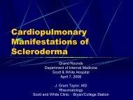 Cardiopulmonary Manifestations of Scleroderma - Healthcare ...