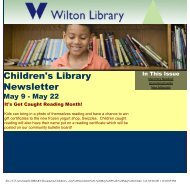 Children's Library Newsletter - Wilton Library