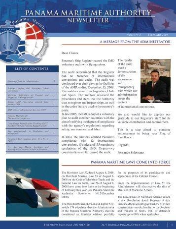 panama maritime authority newsletter