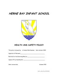 Health & Safety - Herne Bay Infant and Nursery School