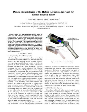 Design Methodologies of the Hybrid Actuation Approach for Human ...