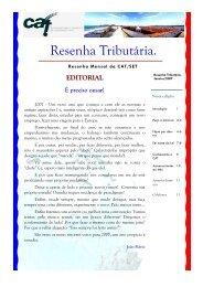 Janeiro 2007 - Secretaria de Estado da Tributação