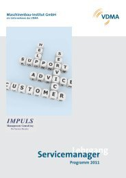Lehrgang Servicemanager - IMPULS Management Consulting GmbH