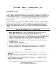 Minnesota Common Grant Application Form - Life Time Fitness