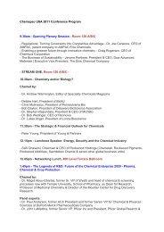 Chemspec USA 2011 Conference Program 9.30 ... - Chemspec Events