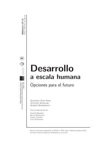 Desarrollo a escala humana - Ciudades para un Futuro más ...