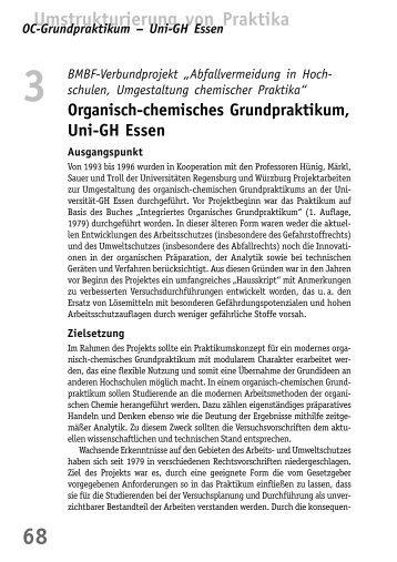 Organisch-chemisches Grundpraktikum, Uni-GH ... - BuFaTa Chemie