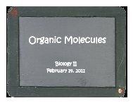 Organic Molecules PowerPoint - Reeths-Puffer Schools