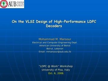 High Performance Decoders