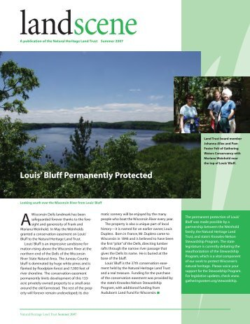 Summer 2007 PDF Format - Natural Heritage Land Trust