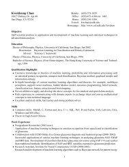 Resume - Systems Neurobiology Laboratory