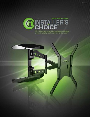 Installer's Choice Mount Catalog - Cable Solutions