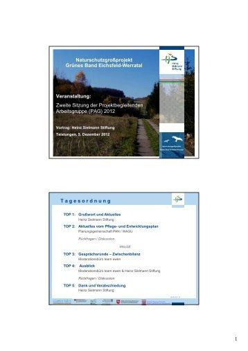 Präsentation aus der PAG II/2012 - Heinz SielmannStiftung (PDF