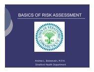 BASICS OF RISK ASSESSMENT - Consensus Building Institute