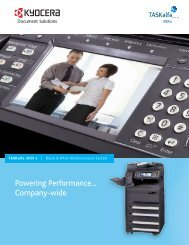 Detailed Specifications - Kyocera