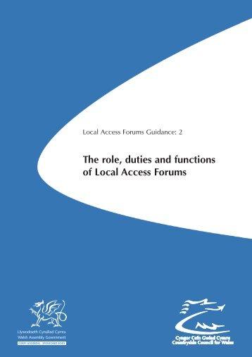 Local Access Forum Guidance : 2 - Wrexham County Borough Council