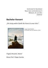Hochschule für Musik Basel - Musik-Akademie Basel