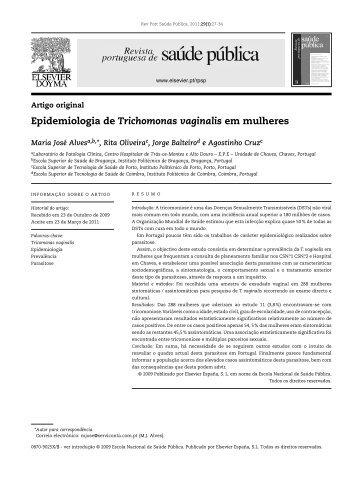 Epidemiologia de trichomonas vaginalis em mulheres ...