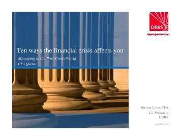 Microsoft PowerPoint - DBRS_Ten Ways The Financial Crisis Affects ...