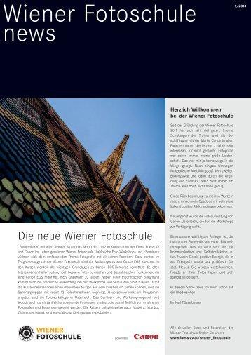 Wiener Fotoschule News # 1 - Fuess AV