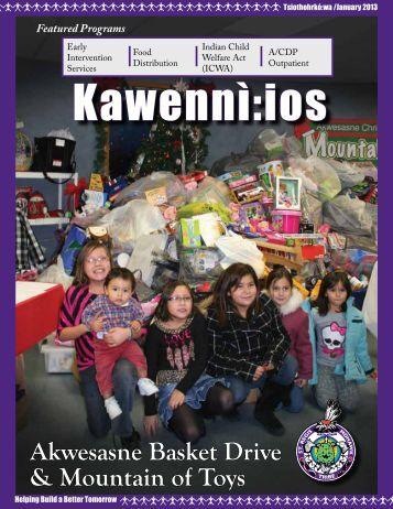 Kawennì:ios Newsletter - Tsiothohrkó:wa / January 2013