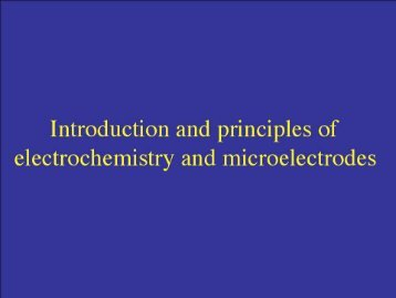 Introduction and principles of electrochemistry and microelectrodes