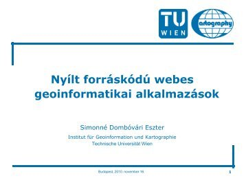 UMN MapServer - Technische Universität Wien