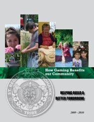 How Gaming Benefits our Community - Saint Regis Mohawk Tribe