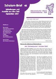 Schalom-Brief Nr. 48 - Oekumenischer Dienst Schalomdiakonat