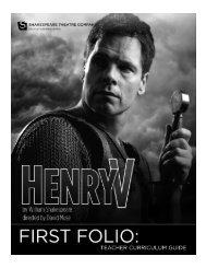 HENRY V.pub - The Shakespeare Theatre Company