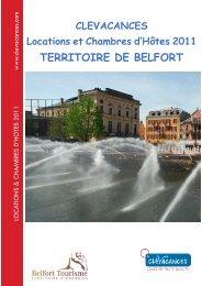TERRITOIRE DE BELFORT - Belfort Tourisme