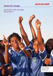 Action for change ActionAid UK strategy 2012-2017