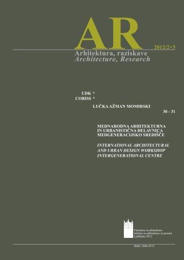 žIRI, 2012 - Fakulteta za arhitekturo