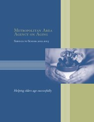 2002-2003 - Metropolitan Area Agency on Aging