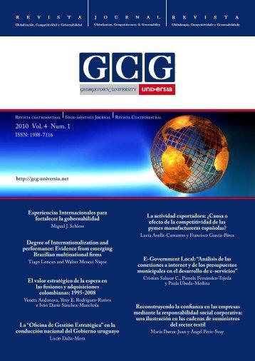 2010 Vol. 4 Num. 1 - GCG: Revista de Globalización, Competitividad ...