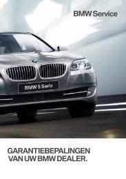 GARANTIEBEPALINGEN VAN UW BMW DEALER ... - BMW.com