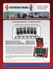 Productos Nuevos - Diciembre 2012 - Interstate McBee