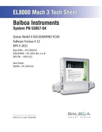 53857-04, EL8-EL8000M3-YCAH - Balboa Direct