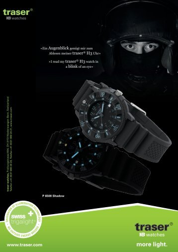 more light. - traser® H3 watches
