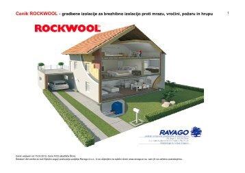 Cenik ROCKWOOL - gradbene izolacije za brezhibno ... - Ravago