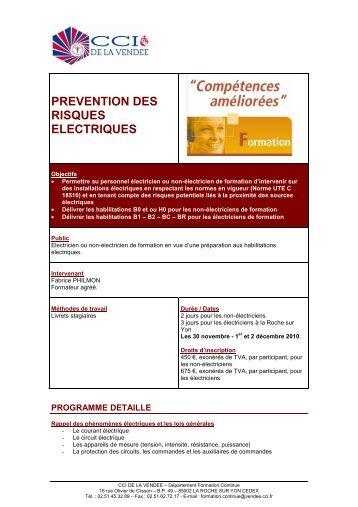 PREVENTION DES RISQUES ELECTRIQUES