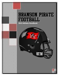 Player Handbook - Branson Public Schools