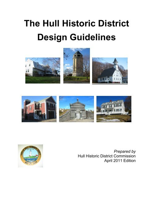 The Hull Historic District Design Guidelines - Town of Hull