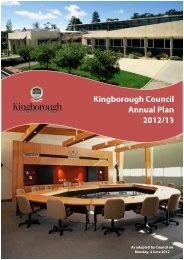 Kingborough Council Annual Plan 2012/13 - Bicycle Network Victoria
