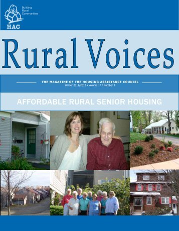 affordable rural senior housing - Housing Assistance Council
